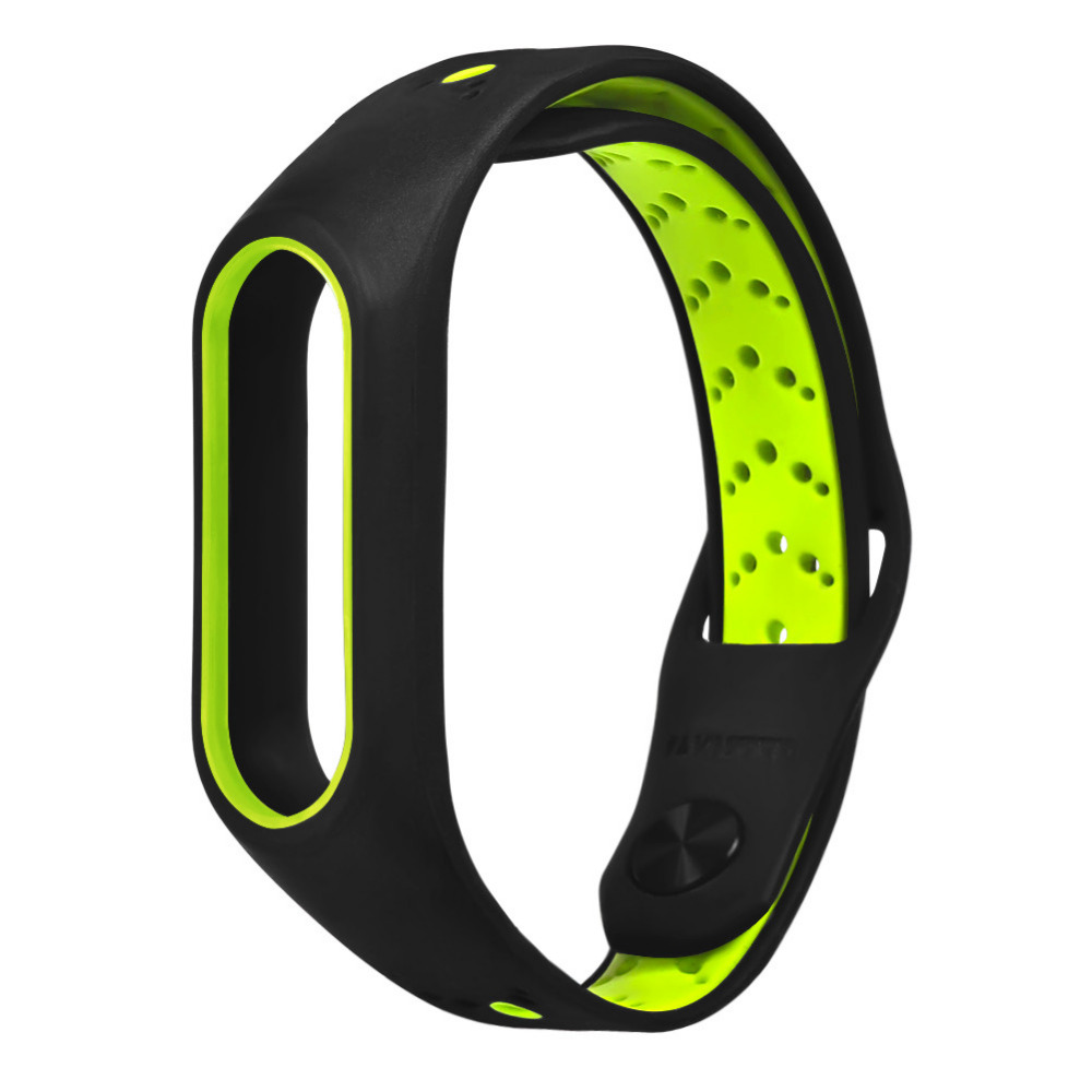Ouhaobin Lightweight Silicone Straps Fashion Ventilate Sport Strap Wristband Replacement Xiaomi Mi Band 2 Wrist Band Jan18