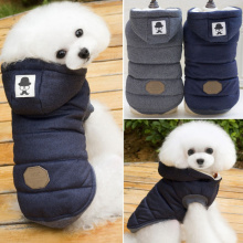 New Brand 2017 Pet Coat Dog Jacket Winter Warm Clothes Puppy Dog Sweater Coat Clothing Apparel Blue Gray