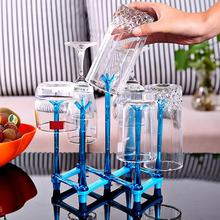 Simple Folding Glass Stand Wine Glasses Cup Holder Kitchen Accessories Home Storage Rack For Living Room Supplies