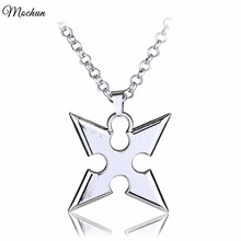 MQCHUN Can Drop Shipping Game Kingdom Hearts Metal Pendent Alloy Necklace Roxas dart Pendant Cosplay Accessories Jewelry Gift