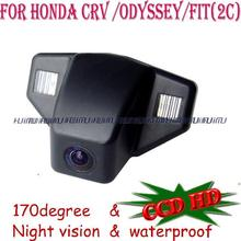 wire wireless for sony CCD car parking camera rear reversing for Honda CRV  FIT hatchback ODYSSEY 2008 2009 2010 2011 2013