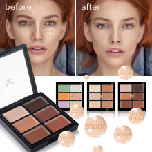 6 Color Concealer Hide Blemish Acne Makeup Face Contour Palette Waterproof Highlighter Cream 3D Face Cosmetics(China)