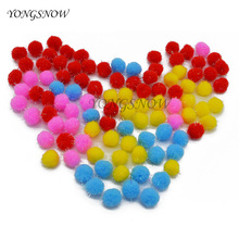 100Pcs/lot DIY Plush Balls Fur Balls Multicolor Pompom Ornament filler bags Handcraft Flower Wreath Decor Garment Party decor 7Z