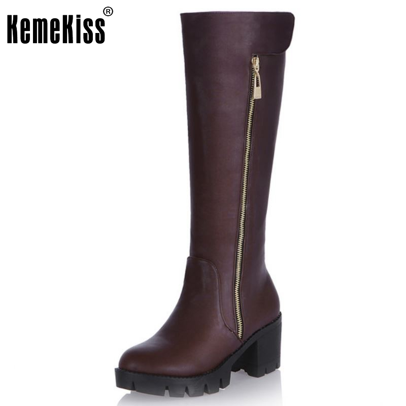 Women Over Knee Boots High Heel Winter Platform Riding Fashion Long Boot Warm Fashion Footwear Heels Shoes Size 34-43<br>