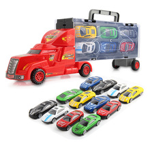 1 transport troops car 12 small alloy race car model in original box best toy for children kids(China)
