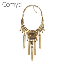 Comiya Parfum Women Perfume Fashion Zinc Alloy Thick Link Chain Tassels Women Pendants Choker Necklaces Indian Jewelry Necklace