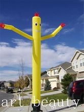 yellow 20 Foot Fly  Inflatable Dancer Tube Man Sky Puppet Dancing Balloon