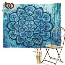 BeddingOutlet Mandala Tapestry Floral Blue Bohemian Decorative Tapestry 130cmx150cm 153cmx203cm Hippie Wall Hanging tapisserie(China)