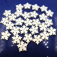 Lovely Sewing Snowflake Christmas Craft Buttons Snow Flake White Winter Button