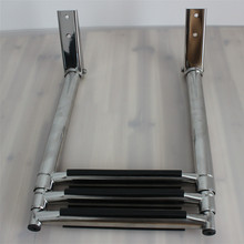 3 Step Stainless Steel Telescoping Marine Boat Ladder Swim Step Over Platform(China)