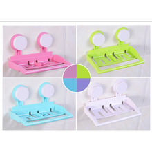 Hutch defends and receive a multi-role vacuum double suction cup can drop the bathroom shelf soap box of towel rack 2Pcs