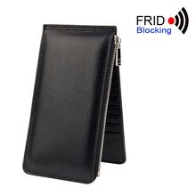 2017 Women's RFID Blocking Wallet Long Coin Purse women's bag genuine leather wallets womens wallets and purses(China)
