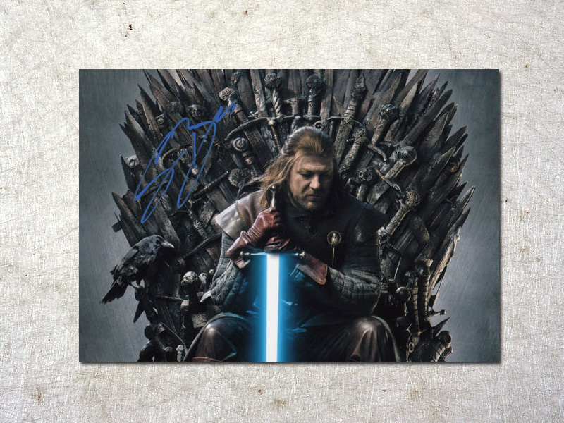 signed Sean Bean Game of Thrones autographed original photo 7 inches free shipping  092017B<br>