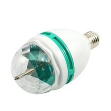 NEW RGB  LED Rotating Light E27 3W 3-Watt Revolving Rotating  Stage Light  Christmas Lighting  88 ALI88
