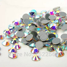 YANRUO 2058HF Crystal AB Hot Fix Rhinestones Crystals All Sizes SS6-SS16-SS20 Flatback Strass Stones Iron Rhinestone For Clothes