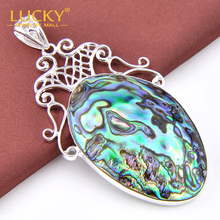 Xmas Gift Classical Natural Abalone shell Silver Pendant for women100%hand Made Fashion Jewelry P0992