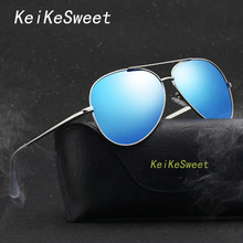 KeiKeSweet Luxury Brand Designer Hot Cool Man Women Polarized Sunglasses Rays Aculos Aviador Fishing Top Clear Sexy Sun Glasses(China)