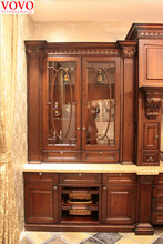 French kitchen furniture with glass door