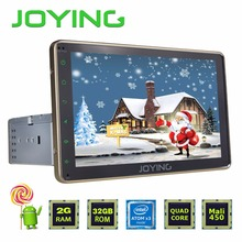 "Joying 2GB+32GB Single 1 DIN 8"" Android 5.1 Universal Gold Car Radio Stereo Quad Core Head Unit Support PIP OBD2 Camera NFC DVR"