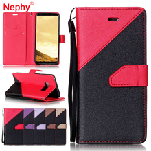 Nephy Splice Leather Filp Phone Case For Samsung Galaxy J3 J5 J7 Prime 2015 A3 A5 2016 2017 S8 Plus S7 S6 Edge S5 TPU Cover