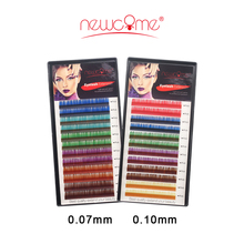 All Size 6 Colors/Tray Color Eyelash Individual Lashes Korean Volume Eyelash Extension,3D Volume Color Eye Lashes False Eye Lash(China)