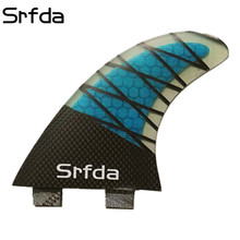 SRFDA FCS G5 Quilhas Quillas Keels Surfboard Fin  Fiberglass Honeycomb Surf Fins/Fcs Fins/Surf Thrusters ( 3 PCS ) Free Shipping