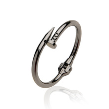 Women Titanium Stainless Steel Spring Nail Bracelets&Bangles Black Screw Cuff Bangle Love Bracelets Party Jewelry(China)