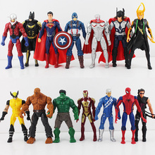 14pcs/set 16cm The Avengers 2 Age Of Ultron Hulk Hawkeye Captain America Thor Batman Spider Man Action Figure Toys Gifts For Boy