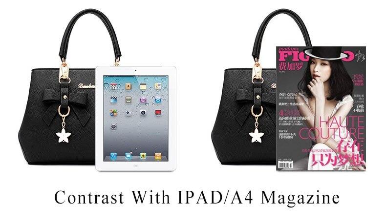 WENYUJH New 18 Elegant Shoulder Bag Women Designer Luxury Handbags Women Bags Plum Bow Sweet Messenger Crossbody Bag for Women 4
