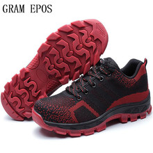GRAM EPOS Air Mesh Boots Work Safety Shoes Steel Toe Cap For Anti-Smashing Puncture Proof Durable Breathable Protective Footwear(China)