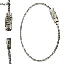 Balight Outdoor 5pc Functional High Strength Stainless Steel Wire Rope Keychain Wire Chain Key Ring(China)