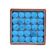 50pcs/lot 13mm Blue Billiard Pool Cue Tips Hardness in M Billiard Snooker Cue Stick Tip Billiard Accessories(China)