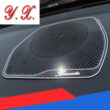 High quality For Mercedes Interior radio grill Trim decorative Cover Cheap Sticker For mercedes W204 W205 c180 c200 C class GLC(China)