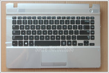 NEW For samsung NP270E4E  NP270E4V NP275E4V English US  laptop keyboard with  white case Touchpad BA75-04434L