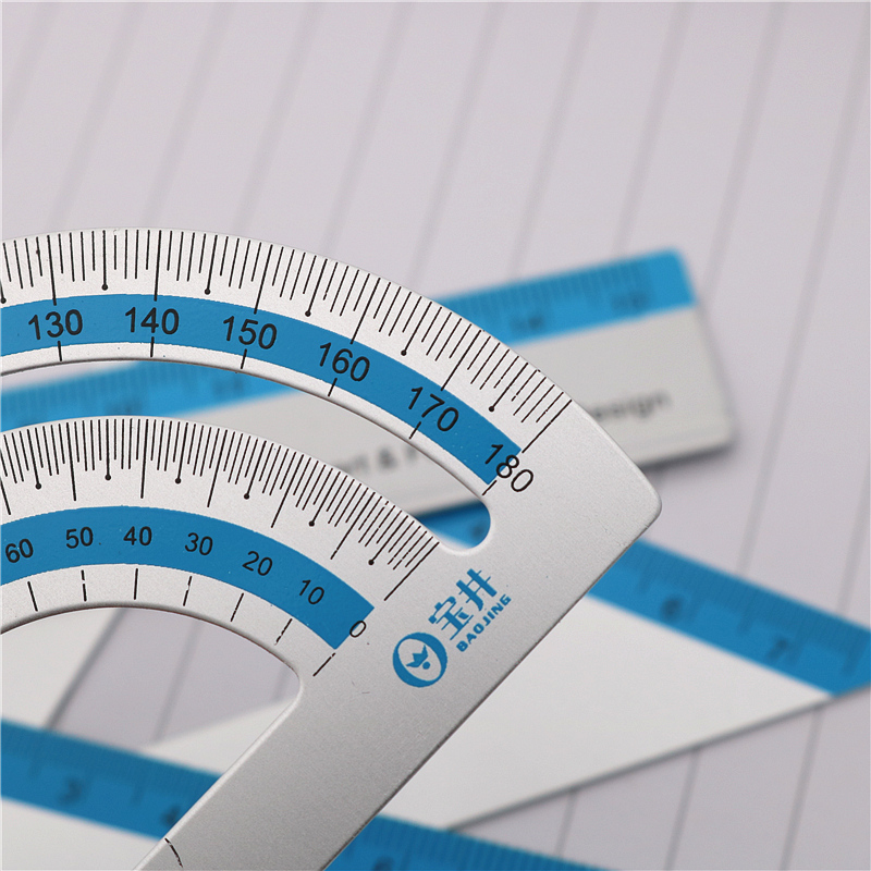 4PCS/Set UV Aluminum Alloy Ruler Drawing Measurement Geometry TriangleRuler straightedge Protractor A variety of rulers