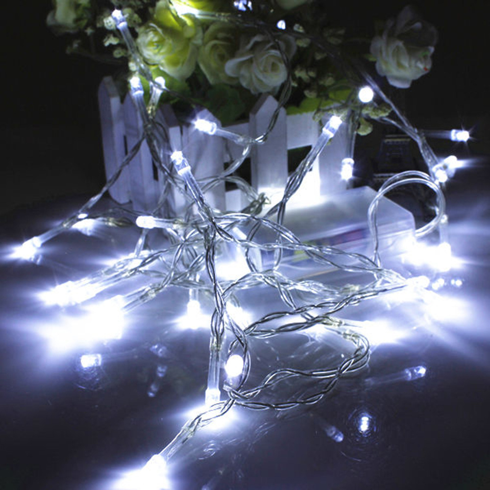 5m 50 led battery operated string light fairy lighting party xmas wedding christmas flashing led - Blinking Led Christmas Lights
