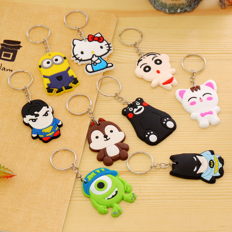 1PCS-Lovely-Animal-Cartoon-The-Avengers-Hello-Kitty-Silicone-Key-ring-Keychain-Backpack-Accessories-Key-chains (2)
