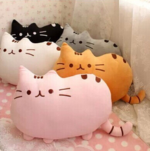 40*30cm Plush Juguetes Stuffed Toy Animal Doll Talking Animal Peluches Pusheen Cat For Girl Brinquedos Kid Kawaii Cute Cushion(China)