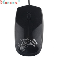 Beautiful Gift 100% Brand New Fashion USB 2.0 Wired Mini Optical LED Mouse For PC and Laptop Computers Wholesale price Dec17