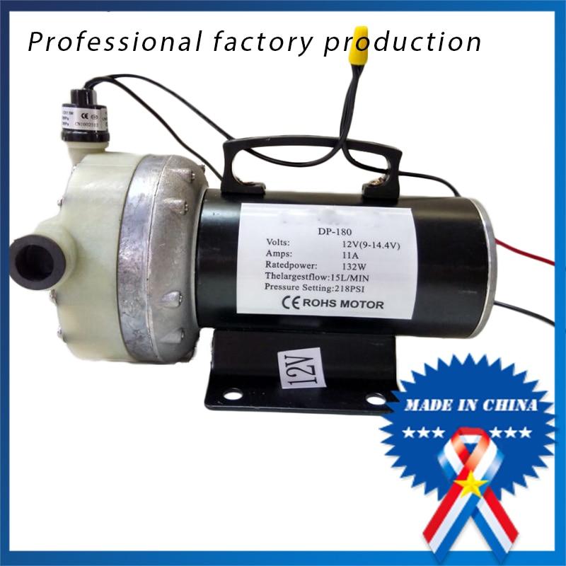 12V48V flat five-cylinder high-pressure diaphragm pump 15kg DP180 electric car washing pump spray pump flow 15L<br><br>Aliexpress