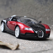 MZ 1:32 Racing car Bugatti Veyron Die-cast metal Alloy car model Children's toys ornaments Sound and light
