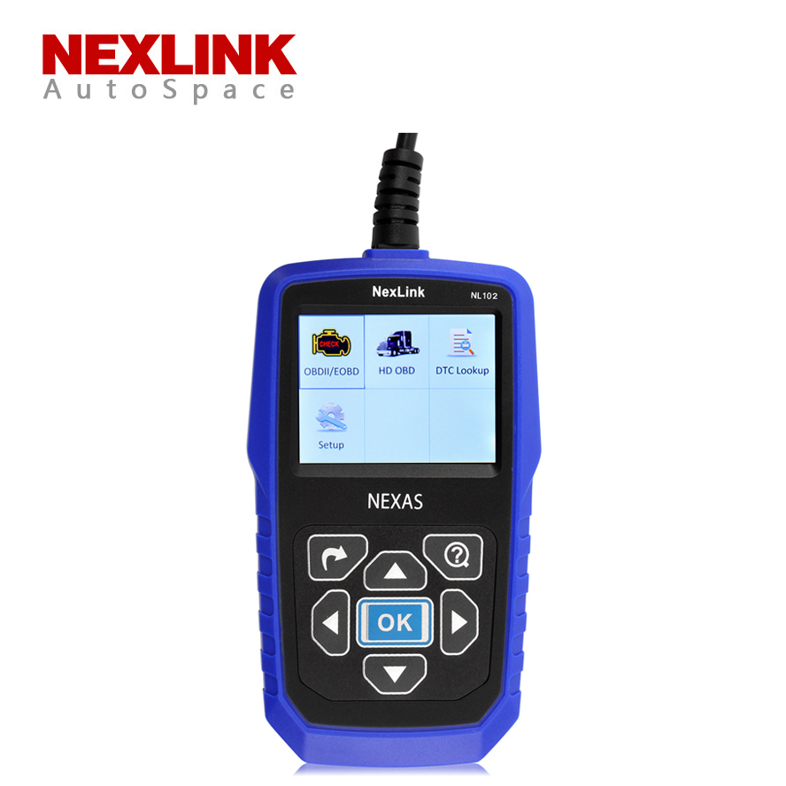 Free Shipping Nexlink NL102 Gasoline Diesel Car Truck 2 in 1 OBD Diagnostic Tool Automotive Escaner For Car Truck Heavy Duty<br><br>Aliexpress