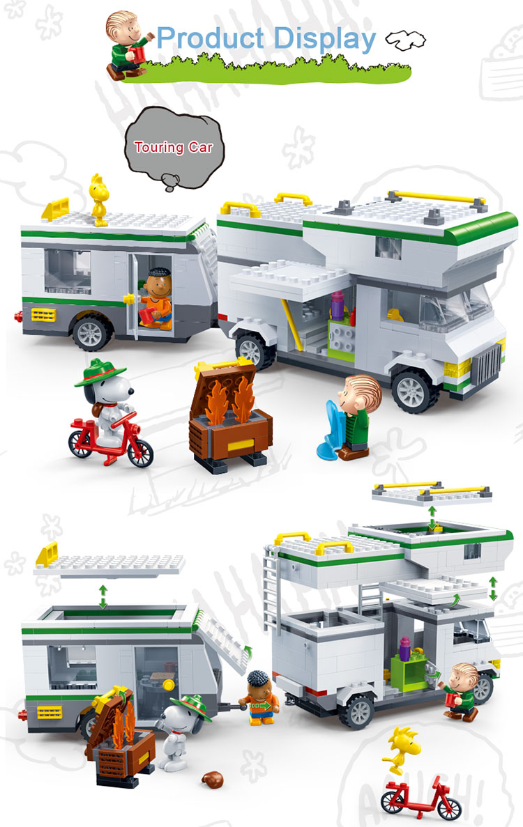 BanBao 7513 Touring Car Plastic Building Bricks 23