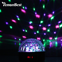 30W RGB LED Stage Lamps Crystal Magic Ball Sound Control Laser Projecter Stage Effect Light Party Disco Club DJ Light Christmas(China)