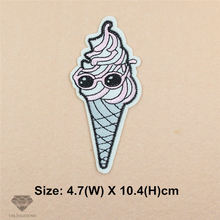 1 pcs New arrival  icecreams embroidered Iron On Patches DK garment iphone Appliques iron-on transfers