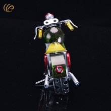 Vintage Metal Motorcycle Model Classic Motorbike Figurine Retro Motor Bicycle Ornament Kid Toy Home Office Decor