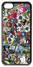 Skateboarding Stickers Urban Art Tpu Nero cell phone bags case cover for 4S 5C 5S SE 6S 7 Plus IPOD Samsung IPOD Touch  HTC SONY