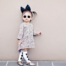 4539f258b9 Baby Girls Dresses Cotton Fashion Wedding Party Clothes Kids Casual Leopard  Print Clothing Children Princess Dress Brand 1-4Year