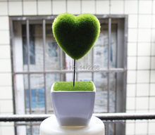 New Moss Heart ARTIFICIAL GRASS HOME GARDEN EASTER DECORATION ORNAMENT 2 style