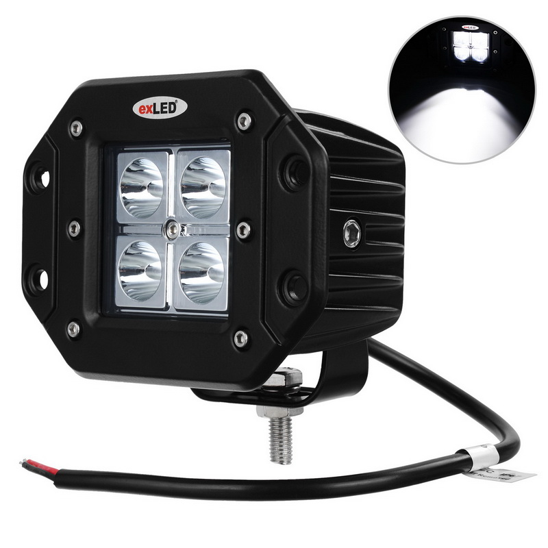 exLED 16W 1000lm LED Car Work Light Driving Lights Cross-country car lights Embedded car lights 1PCS<br>